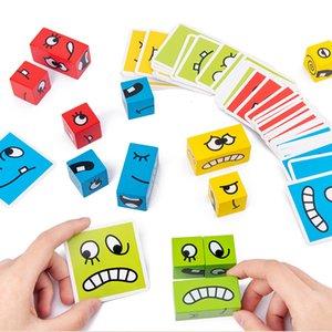 Уровень детский изменяющийся мышление логические блоки лица здание здание учебное образование деревянный кубик вызов ранней настольной игры игрушки игрушки CMGUS
