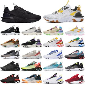 React Element 55 87 2020  men women Running Shoes triple black white Tour Yellow Sail gym Red mens trainers sports sneakers