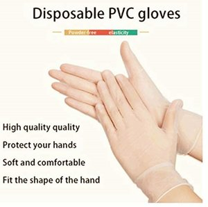 100pcs lot Disposable gloves PVC rubber high-density material pre-imitation gloves protective Catering hygiene gloves 100set T1I1846