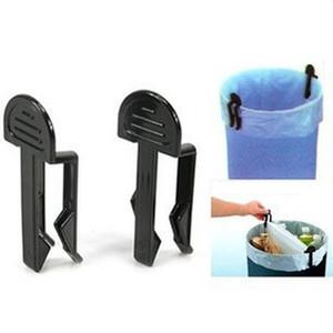 2pcs / Lot útil Home Galería multimedia de residuos Bolsa de la basura Cubo de basura Bolsas de basura Clamp antideslizante clip de retención del bote de basura VT0468 Clip