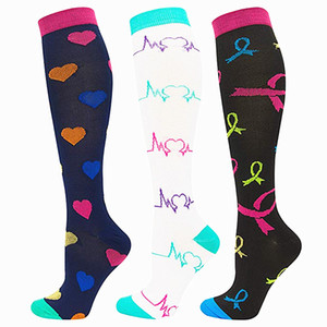 Running Elastic Unisex Compression Stockings 15-20 Mmhg Prevent Varicose Veins Pregnancy Edema Anti Fatigue Pain Relief Men Sock
