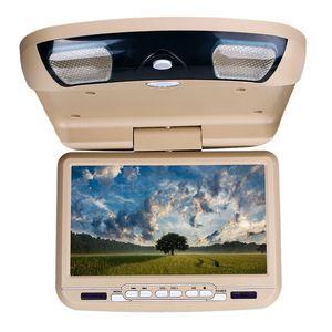9 Inch Car Roof Ceiling Mount Flip Down LED Digital Sn DVD Player USB SD MP5 IR FM Transmitter Speaker Game