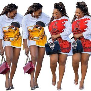 Pull Designer Vêtements pour femmes sexy Figure Imprimer Womens Casual Robes Femmes Mode Midi vrac Robes Casual