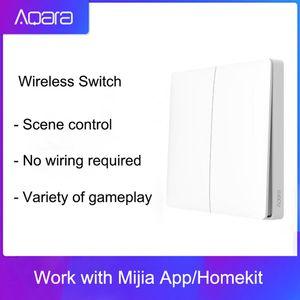 Оригинал Aqara настенный выключатель Смарт Light Control Smart Switch Wifi 2,4 ГГц беспроводной двойной ключ дистанционного управления с помощью Mi Home App