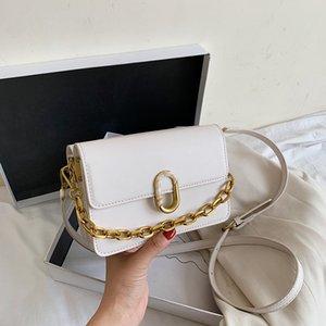 CASMOR العلم حقيبة المرأة 2020 الجديد PU الكتف الصغيرة حقيبة مصمم أزياء سلاسل الصلبة المتأنق اليومية البسيطة CROSSBODY حقائب سيدة