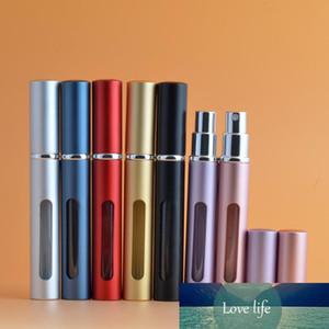 Vaciar para después del afeitado atomizador Holder portátil metálico recargable mini botella de perfume del aerosol por un recorrido del monedero 5 ML