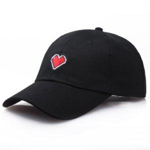 0BHDE Корейского стиля простой сладкого Корейского стиль случайный все соответствующие вышитый Вышитая бейсболка любовь шнуровка бейсболка женской шляпе
