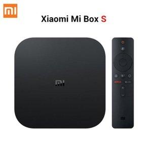 BE stok Vergileri serbest Xiaomi Mi TV Box S 4 Android 8.1 4K HD QuadCore Akıllı Bluetooth 2GB 8GB H D MI WiFi Seti UP mil Kutusu S Media Player
