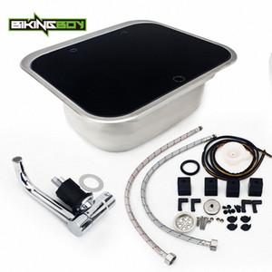 BIKINGBOY RV Караван Camper из нержавеющей стали умывальником Kitchen Sink Tab + закаленное стекло Крышка Автодом Раковина Лодка денника JWTM #