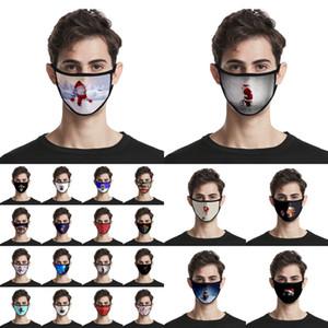 Viso Natale Maschere Adulti Bambini modo 3D di Babbo Natale Elk Stampa maschere antipolvere lavabili riutilizzabili Bocca copertura Xmas viso maschere CYZ2678