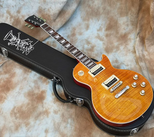 Yeni Geliş Slash İştah Amber Alev Maple Top Elektro Gitar Slash AFD