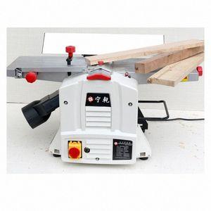 8 pulgadas plana Planer cepillado mesa de la máquina de prensa de regrueso carpintero pequeño de un solo lado del hogar multifunción Planer Herramientas W0or #