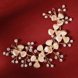 wholesale Korean Fashion Shining Crystal Flower Headband Women Girls Birthday Bride Noiva Wedding Veil Hairbands Jewelry Gifts