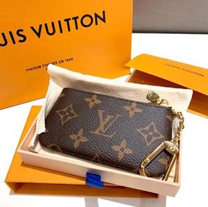 KEY SACCHETTO M62650 POCHETTE CLES Designer Holder modo delle donne Mens dell'anello chiave della carta di credito della borsa della moneta di lusso mini sacchetto del raccoglitore Charm Brown Canvas