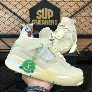 2020 neue Ankunfts-hochwertige Weiß X Segel Männer Jumpman 4 4s Basketball-Schuhe Kaws Travis Scotts Cactus Jack Cool Gray Frauen-Trainer-Schuhe