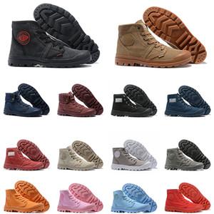 PALLADIUM Pallabrouse Männer Frauen Stiefel Halb Stiefel der Männer Segeltuch-Turnschuhe Tactical Schuhe Outdoor-Herren-Trainer Größe 36-45