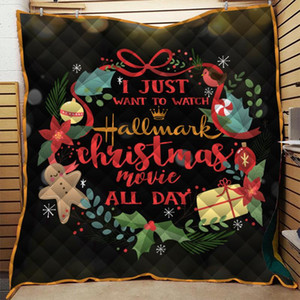 Dropshipping Merry Christmas Quilt For Kids School Adults Bed Soft Warm Blanket Customize Cotton Quilts King Size