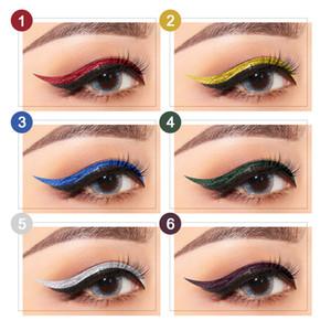 2020 makeup Shiny Pearlescent Liquid Eyeliner 6 Colors Diamond Highlighter Eyeliner Long Lasting Waterproof Liquid Eyeshadow