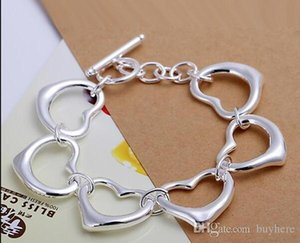 Free shipping A2 new 2020 new 925 women silver bracelet come with box,pouch.