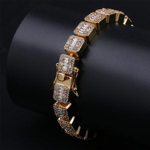 Hip Hop Jewelry Mens Bracelets Diamond Tennis Bracelet Bling Bangle Iced Out Chains Charms Rapper Fashion Accessories