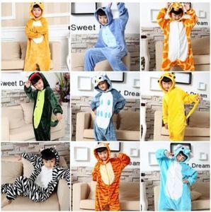 Winter boy and girl Blanket Sleeper Flannel Cartoon Animal pajamas onesies Kid pajamas Hooded Romper Sleepwear Animal Cosplay Onesies