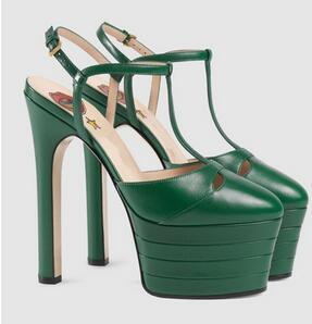 Hot Sale- Women's Waterproof Platform with Thick Sole for European and American Round-headed Fashion Sandals
