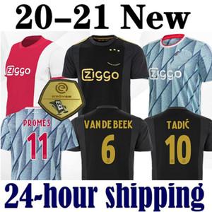 사이즈 S-2XL 2020 AJAX 홈 멀리 빨간색 파란색 NERES 망 축구 유니폼 (20) (21) DE LIGT ZIYECH 타 디치 아이 키트 축구 유니폼 셔츠 2021