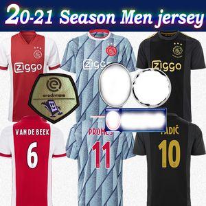 20-21 Ajax European Jersey 50. schwarzes Gold # 11 PROMES 2020 Männer AJAX Hauptfußballjersey-Customized-Fußballhemd rot weg Heiß-Verkauf
