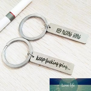 Kisseason Keep Fucking Going 2020 Keychain Inspirational Gift Key Chain for Men Women Best Friend Jewelry