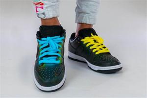 2020 Pré-venda Dunk Low SB civilista X rodando sapatos pretos calor da reacção fonte homens multi-cor mulheres Sneakers Sports COM CAIXA TAMANHO 36-45
