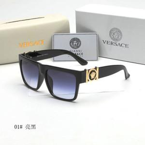 Gafas de sol cuadradas Desinger de lujo con sello del marco UV400 completa medusa gafas de sol para las mujeres de los hombres de moda accesorios de alta calidad