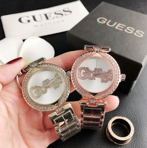 2020mk Uhr michael Uhren der Frauen Diamant-Uhr-Armband-Uhren für Frauen Rose Gold Lady Dress Analog Quarz Mode Uhr Relogio GUESS