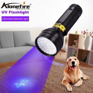 AloneFire rilevazione LED luce UV 395-400nm 51 torcia LED UV torcia UV indurimento dell'adesivo