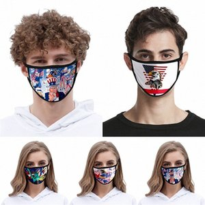 Mask envio reutilizável lavável Cotton Mouth Design Cara er Designer face linho Máscara # QA185 on2u #