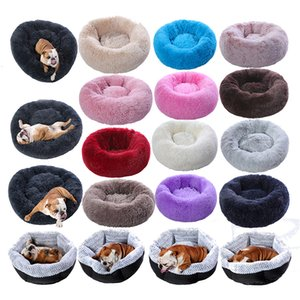 Long Plush Super Soft Kennel Round Dog House Cat For Dogs Bed Chihuahua Big Large Mat Bench Pet Supplies