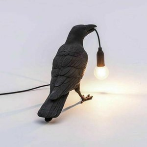Style Raven Lamp Light Black White Novelty Bird Crow Wall lamp decoration