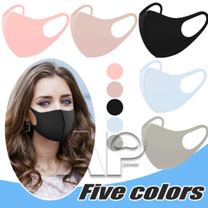 Anti Dust Face Mouth Cover Mask Respirator Dustproof Anti-bacterial Washable Reusable Ice Silk Cotton Adult ChildMasks Tools