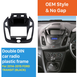 Best Double Din Car Radio Fascia for 2014 2015 Ford Transit Trim Panel Installation Kit Audio Cover Dash Mount