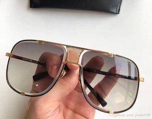 2087 Praça Pilot óculos de sol ouro preto do quadro e Gray Gradient Lens óculos de sol unisex Designer Sunglasses Shades New com caixa
