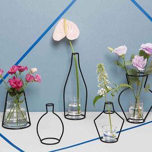 Pots Pots Vase Shelf Soilless Home Iron Organizer Rack Planter Bardian Flower Vase Decoration Decoration Accessories Iron Creative pp2006 h