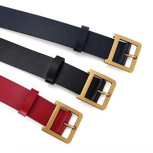 New Belt women's leather first layer cowhide Korean yao dai qun nv shi qun style fashionable elegant women's belt fashion internet Red cd sk