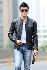 Fashion slim Fit Leather Jacket Men Suede Coat for mens clothes spring autumn clothes outerwear Plus Size fz0697