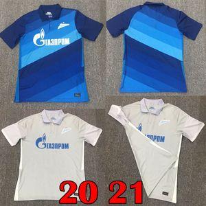 20 21 FC Zenit St. Petersburg camisa de futebol casa longe MALCOM Lovren 2020 2021 azuis SANTOS BARRIOS Futebol shirt maillots de conjuntos pé