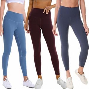 LU-Z18025 сплошной цвет поножи женщин Lady спортивный зал Yogaworld йога штаны высокой талии Align Упругие Фитнес Колготки Run eHDf #