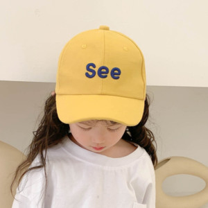 p5XrR 2020 spring and summer new children's hat girls Sunscreen Baseball capcute cartoon baseball cap Sun Hat sun protection cap cap