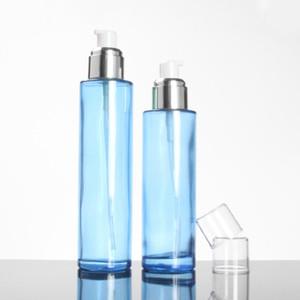 2oz Синий Роскошный Spray Bottle, 60мл Glass Container Лосьон насоса