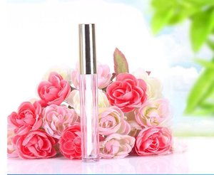 Wholesale 250pcs 10ML Mini round lip gloss tube cosmetic package lip gloss bottle empty container with gold cap new