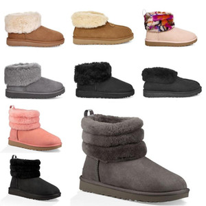ugg women men kids uggs slippers furry boots slid neve stivaletti corti mezzo inchino Fur Designer per i pattini della piattaforma, tenere al caldo inverno australiano delle