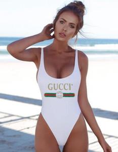 2020 Il più nuovo modo progettista Suits Swimwear del bikini per la lettera delle donne del costume da bagno della fasciatura sexy bagno sexy costumi interi