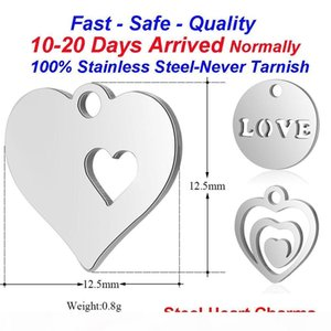 20pcs lot Heart Jewelry Charms 316L Stainless Steel Laser Cut Charm Hollow Heart DIY Jewelry Making Charm Love Finding